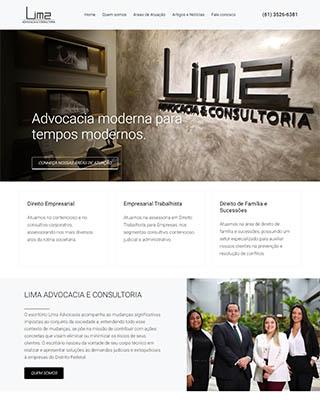 Site da Lima Advocacia