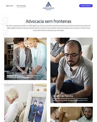 Site do advogado Dr. Alberto Araújo