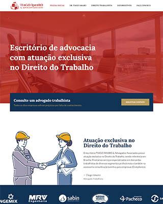 Site do advogado trabalhista Dr. Tiago Amaro