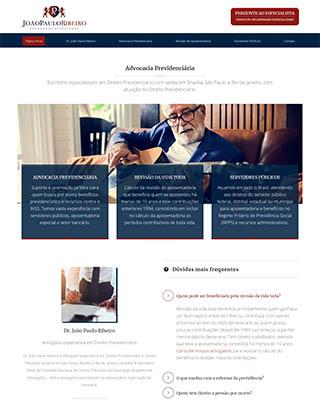 Site do advogado previdenciário Dr. João Paulo Ribeiro