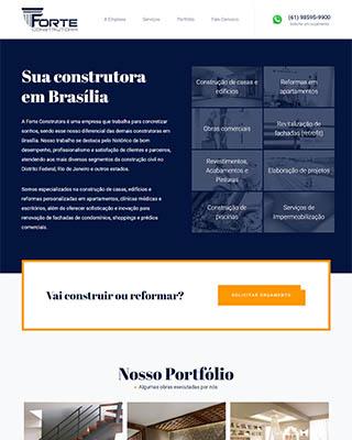Site da Forte Construtora, reformas e construções