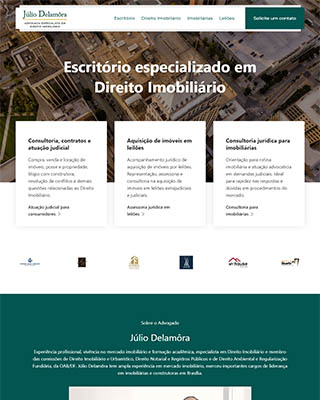 Site do advogado Júlio Delamora